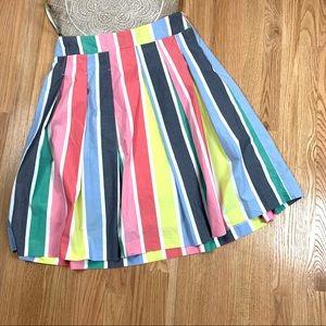 Boden Cara A Line Vertical Striped Skirt